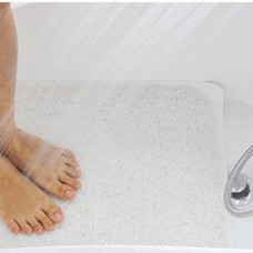 Drain away mildew resistant bath mat