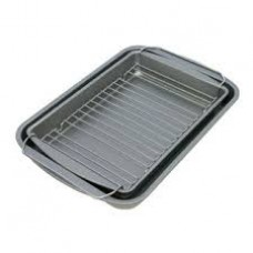 Baker-Eze 3 pc. (Bake,broil & roast set) with chrome plated rack