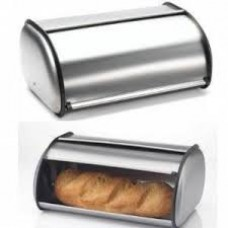 Brushed Stainless Steel Rolltop 2-Loaf Capacity Bread Box