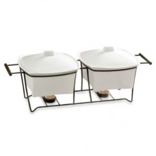 B. Smith 1.5-Quart Double Buffet Warmer with Stand