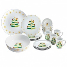 Rachael Ray Dinnerware Holiday Hoot 16-Piece Dinnerware Set + 2-Piece Serveware Set