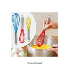 Set of 3: Home Basics Silicone-Tipped Whisks