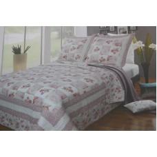 3 piece set: platinum collection  quilt bedding dusty rose (Marisol)